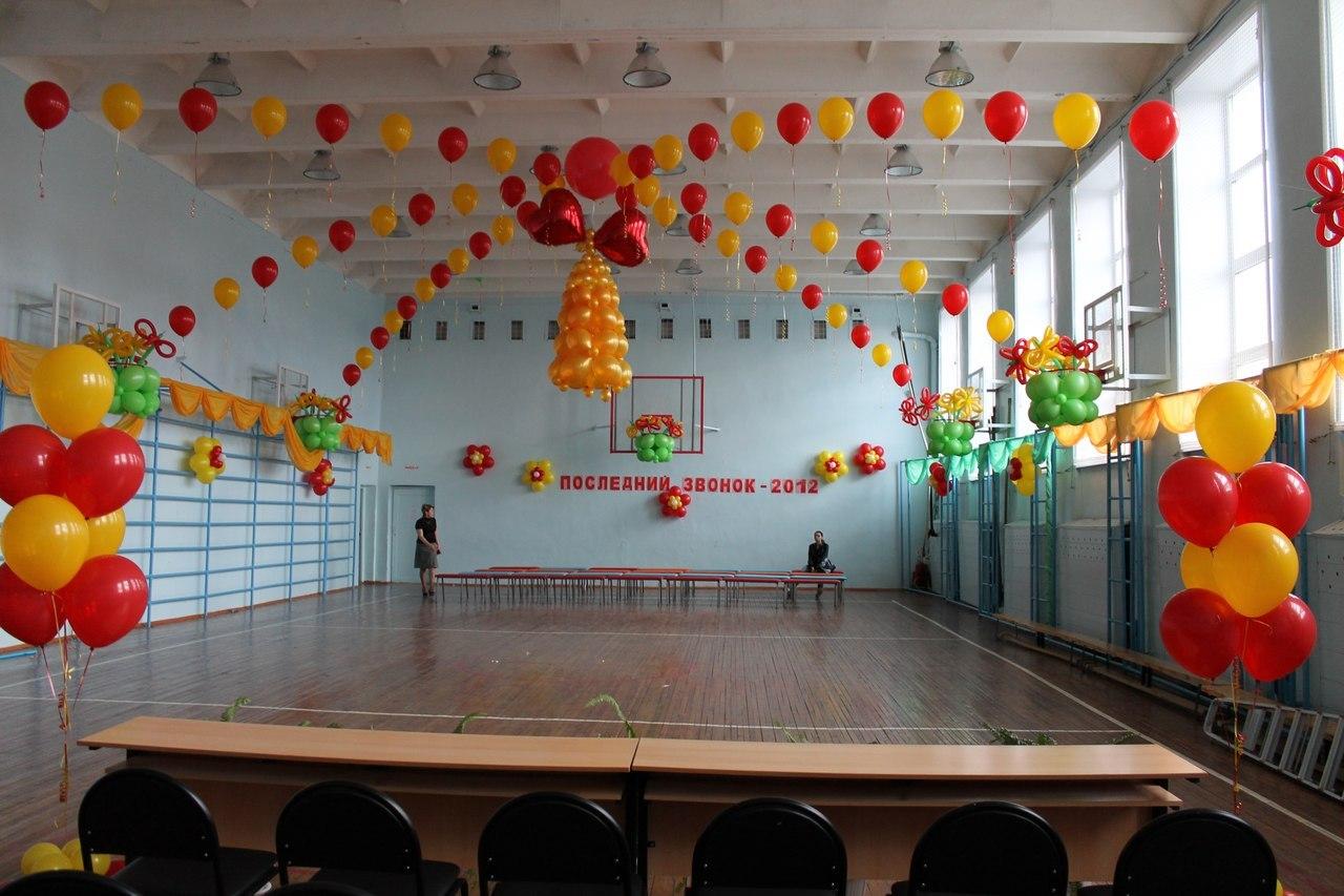 Оформление зала к выпускному в школе своими руками